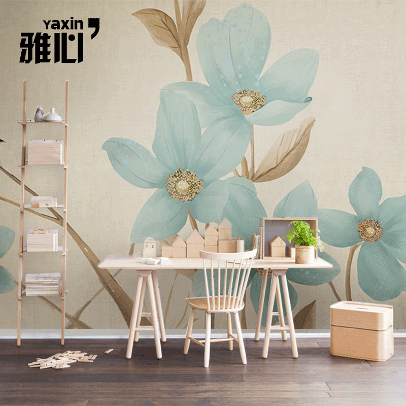 Ya heart contadino wovens nordic bedroom living room tv backdrop wallpaper custom wallpaper mural wall covering seamless