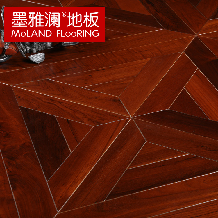 Ya lan ink myl art parquet flooring burmese teak wood composite multilayer parquet flooring factory outlets