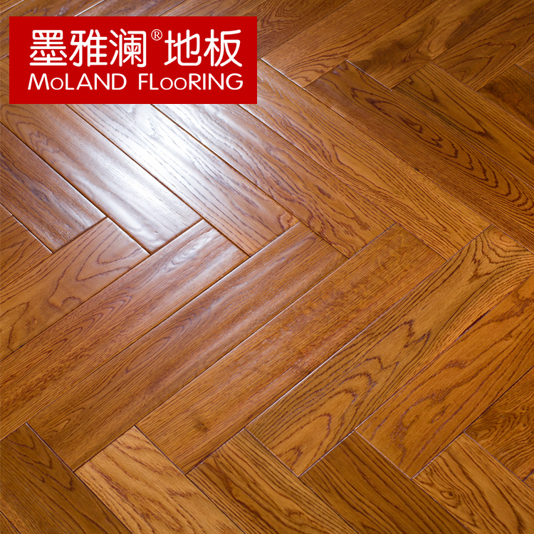 Ya lan ink myl european white oak solid wood flooring herringbone 18mm large natural wild wood
