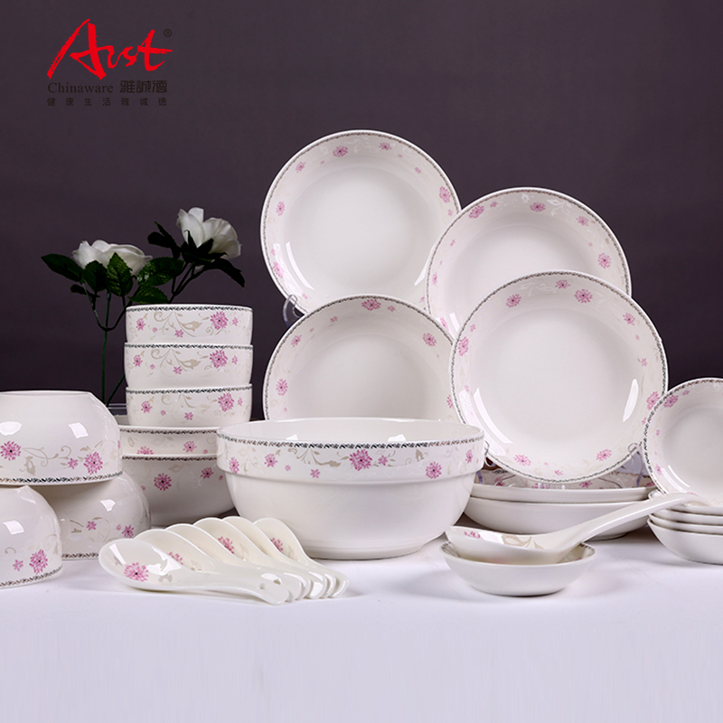 Ya tak feelingly household cutlery sets 28 chinese dishes suit glazed ceramic dishes suit