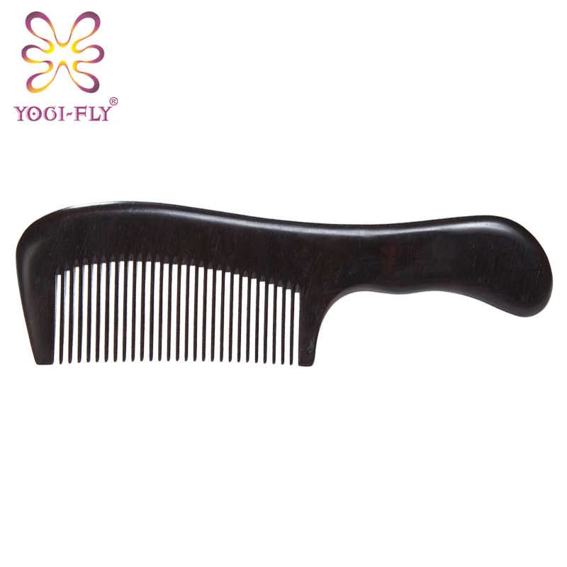 Yage fei ebony wood comb the entire wooden handle cute mini portable carry a small comb may lettering antistatic