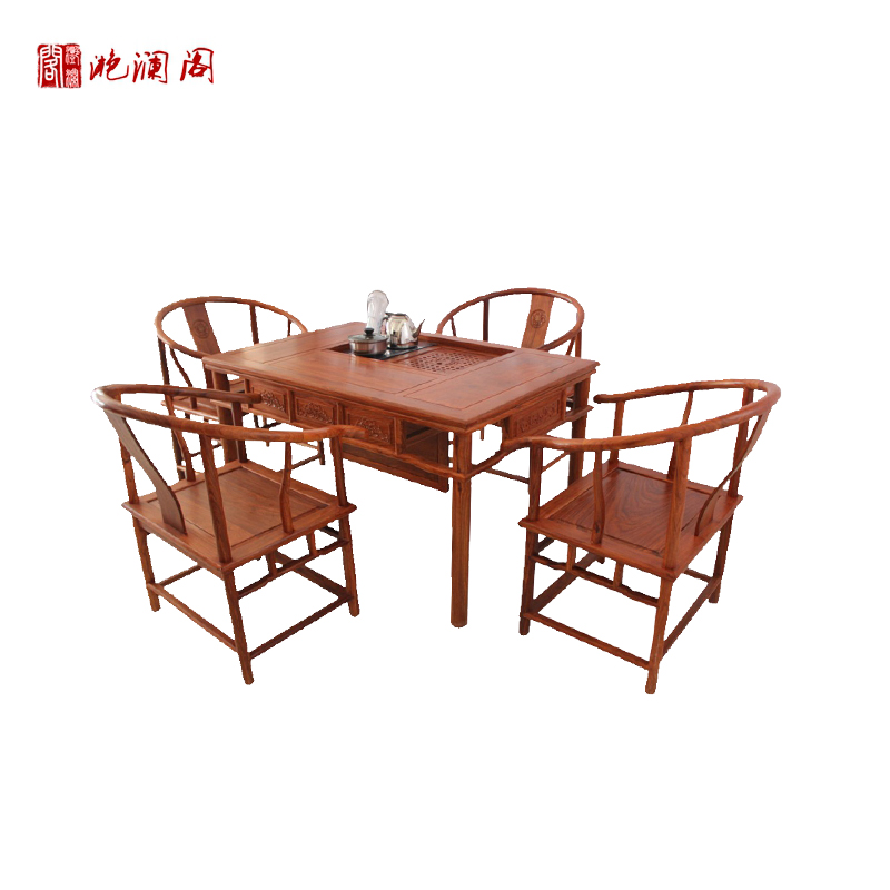 Yan lan club 1.2 m modern chinese tea table african rosewood mahogany wood tea table kung fu tea table tea sets