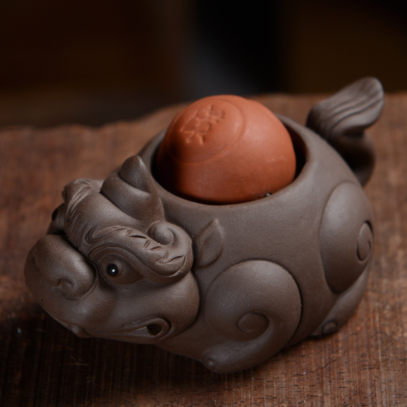 Yan yi tea yixing tea pet ornaments tea pet extra cash lucky brave lucky dragon turtle