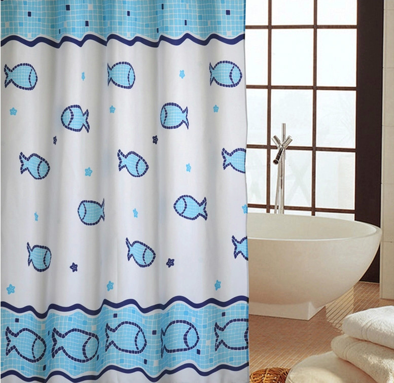 Yang yun midi genuine new undersea fish waterproof polyester shower curtain mildew thickening bathroom heavier sinker specials