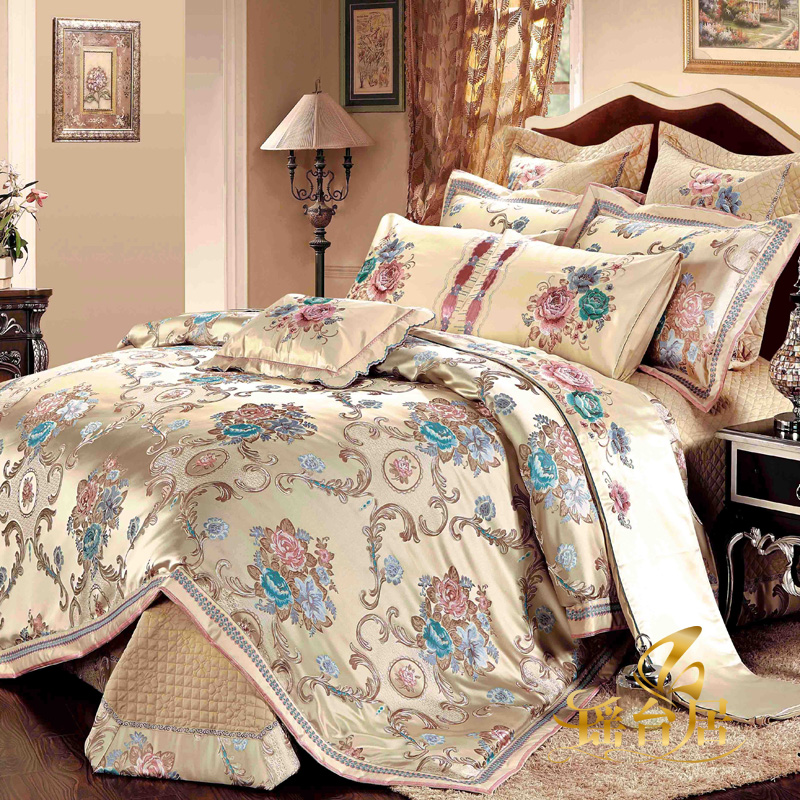 Yaotai ranking european luxury model room bedding satin jacquard bedding ten kits 8y-l