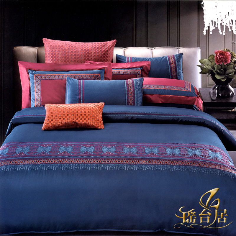 Yaotai ranking european luxury satin jacquard bedding ten sets of pieces of sets wedding celebration bedding 6QXG-SGHP