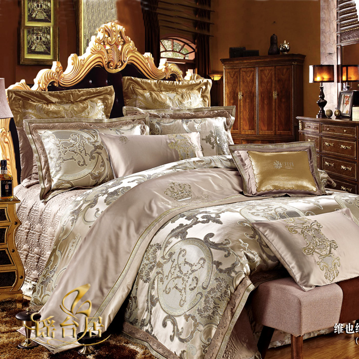 Yaotai ranking european luxury satin jacquard bedding ten sets of wedding bedding package 7JN-WYNDZCJ