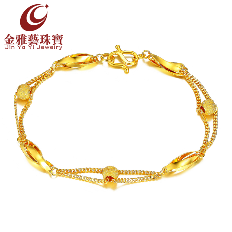 Yayi gold jewelry simple and stylish足金denominated gold chain bracelet female models birthday gift