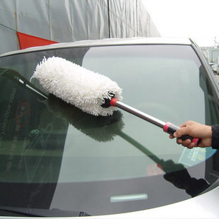 Yd telescoptic dust broom to sweep dust duster car wax wax mop brush dusting brush to dust round