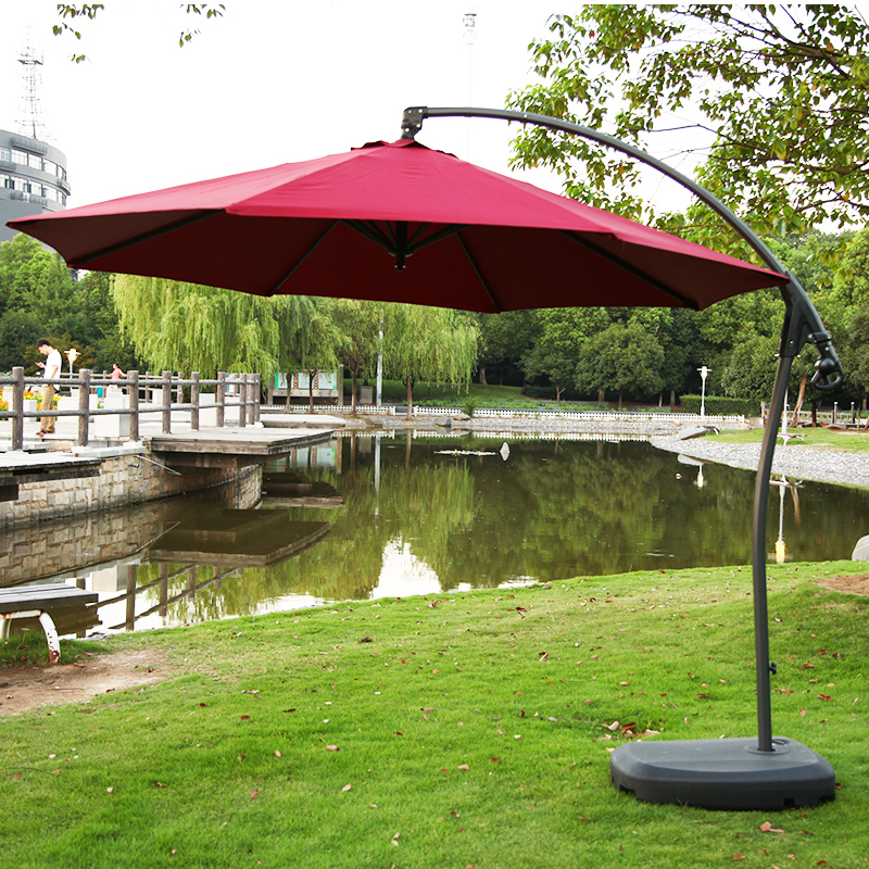 Get Quotations Ye Ting Outdoor Patio Umbrellas Stroller Folded Banana Umbrella Tables And Chairs Garden Side