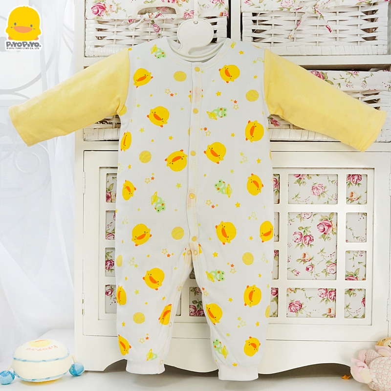 Yellow duckling newborn baby in autumn and winter coveralls romper baby clothes baby warm thick cotton coveralls climbing clothes