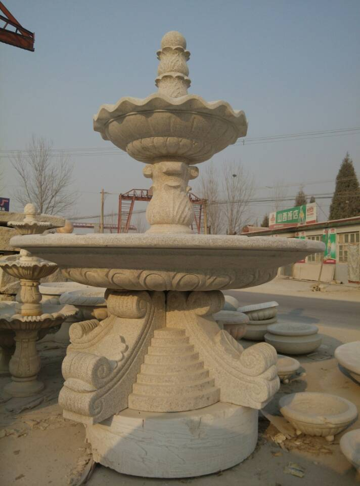 Yellow rust stone fountain marble fountain marble fountain to create professional custom HT11-37