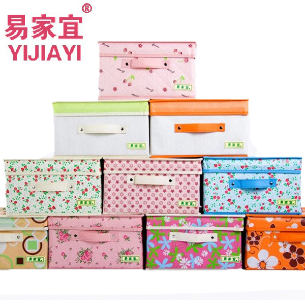 Yi jia yi creative clothing storage box large covered storage box sorting box storage king storage box storage bags post