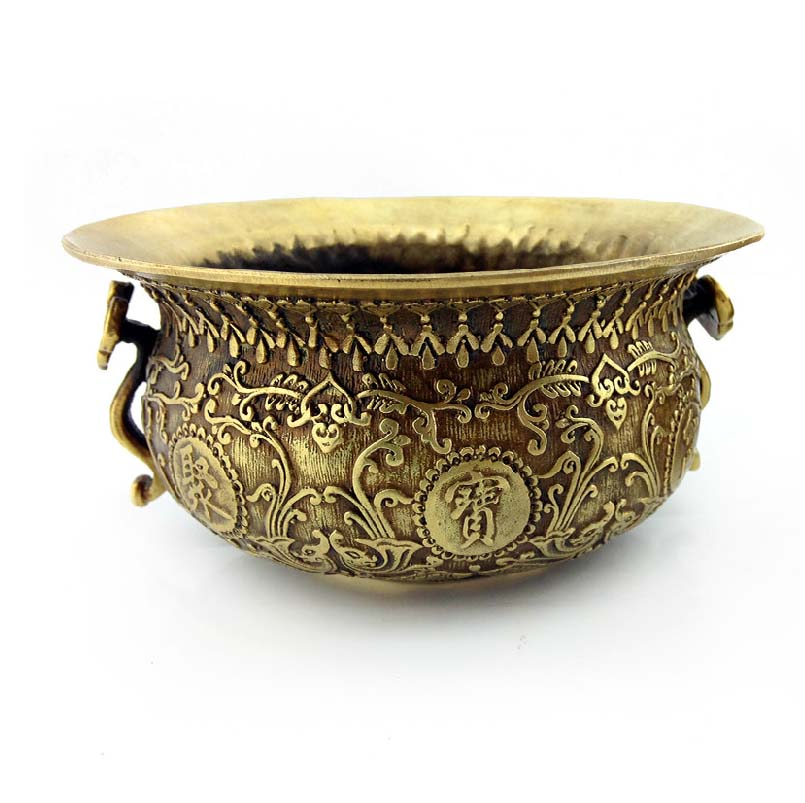 Yi kun court opening copper censer cornucopia lucky ornaments home feng shui ornaments crafts decorative furnishings