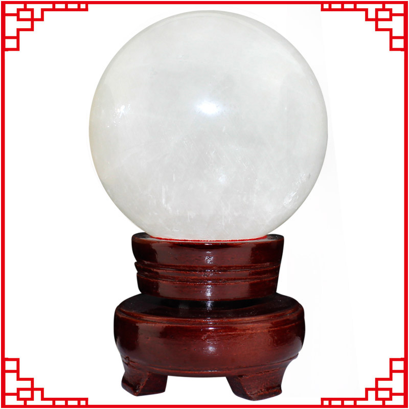 Yi kun court opening genuine crystal natural white crystal ball feng shui ball yellow crystal ball ornaments lucky