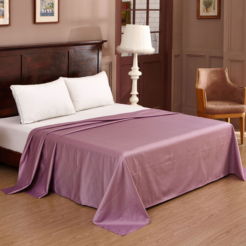 Yi rui pure cotton sateen sheets at right angles single solid color cotton solid color 1.5 m 1.8 m double bed single product