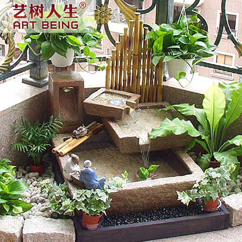[Yi tree of life] creative water king size can be customized square sink shicao antique ornaments shicao