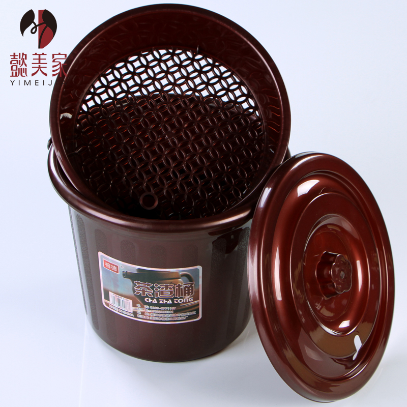 Yi us home plastic buckets tea leaves tea bucket trash debris bucket bucket thicker type of drainage waste bucket