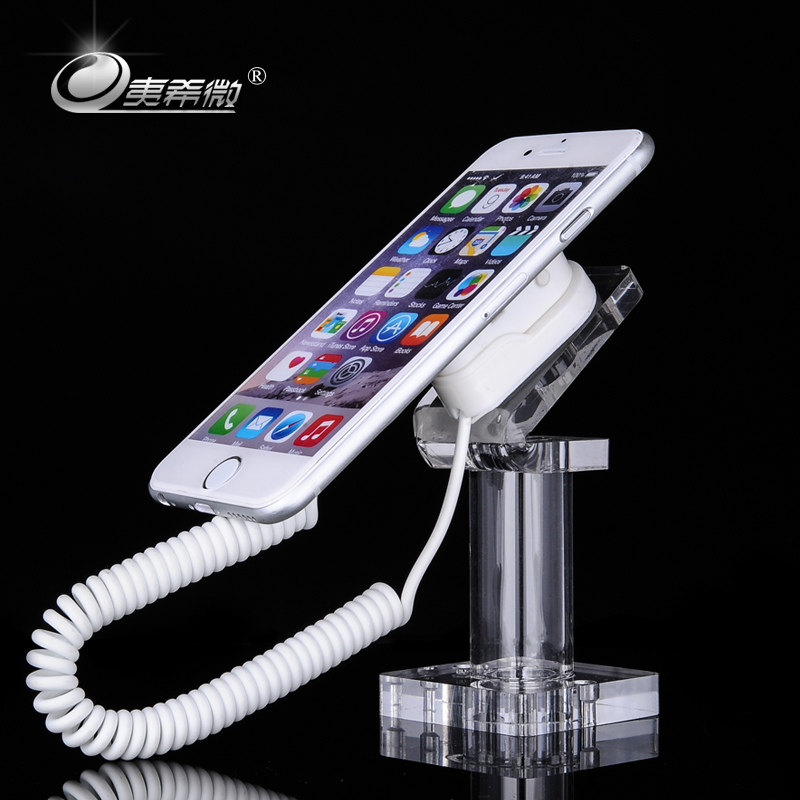 Yi xi micro crystal acrylic combination cell phone display counter display rack bracket test stand base burglarproof chain