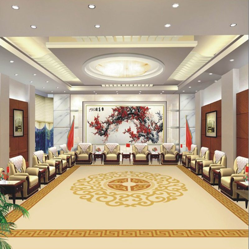 Yimei handmade pure wool carpets hotel conference room hall project paved stylish modern european custom