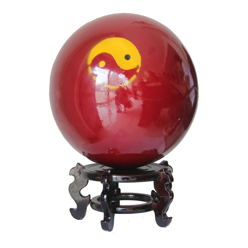 Yin and yang feng shui wood tai chi tai chi fitness ball ball ball ball elderly martial arts practice wrapping function gossip ball 20 kg