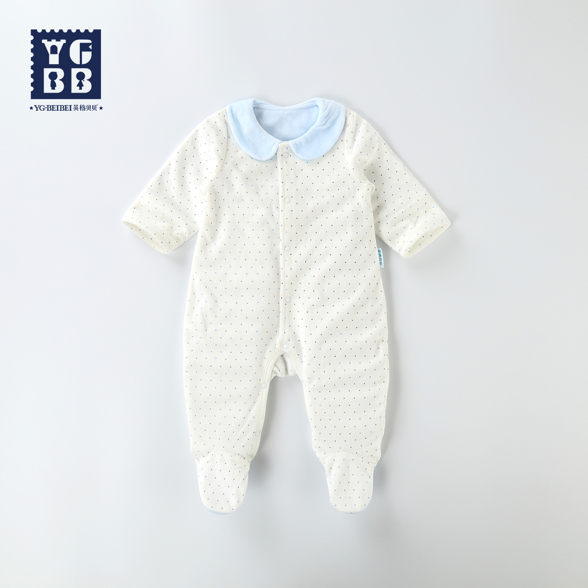 Ying ge beibei 2016 new baby spring and autumn thin section double leotard romper newborn baby clothes climbing clothes