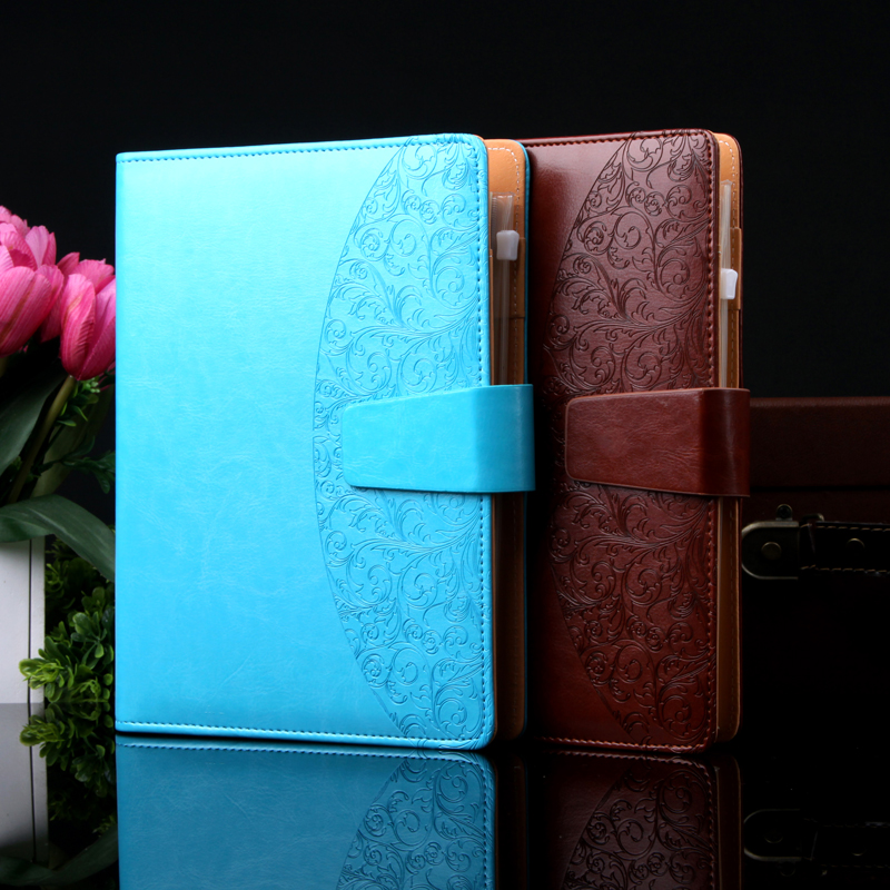 Ying li jia it is true leather binder 6 hole leather notepad office stationery business live page folder can be customized