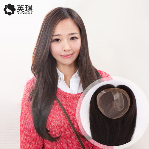 Ying qi invisible trace woven hair replacement piece of real hair can dye real hair wig piece lightweight replacement