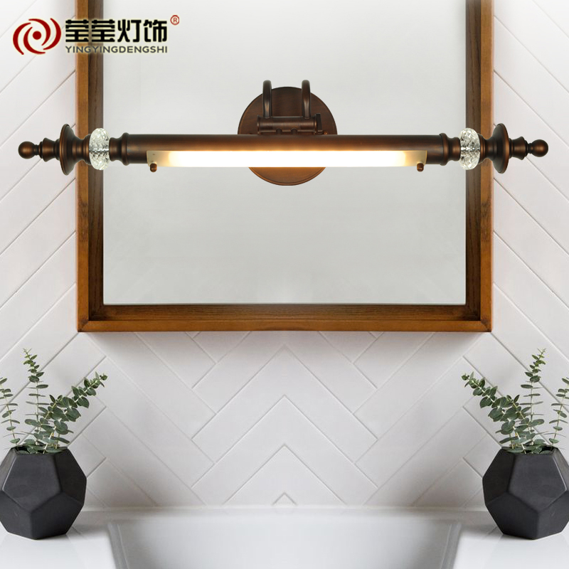 Yingying lighting american continental ag led mirror front lamps bathroom vanity bathroom home improvement waterproof bathroom mirror cabinet mirror lights