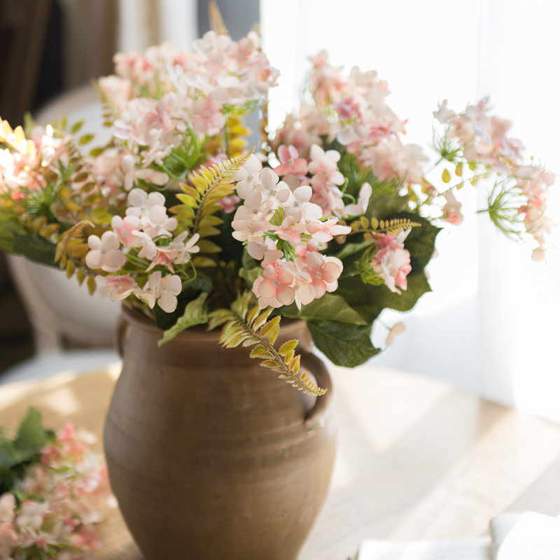 Yixuan fresh pink hydrangea flower arrangement artificial flowers artificial flowers decorate the entrance flower flower flower table