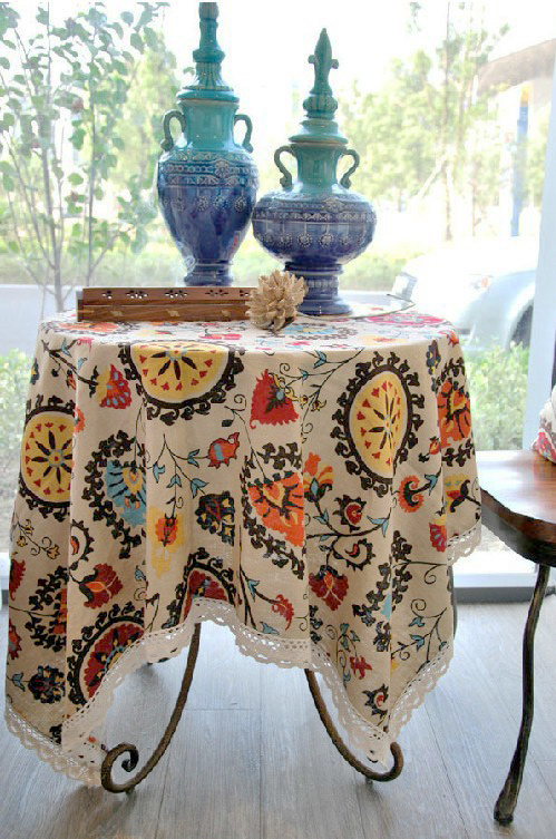 Ymioo Home Goods Can Be Customized Vintage Tablecloth Roundtable Western  European Coffee Table Cloth Tablecloth Linen