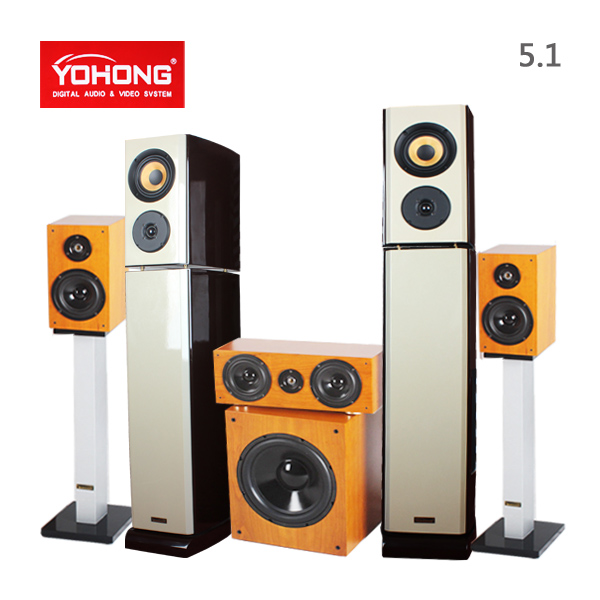 Yohong/english han dt-3 double 5.1 home theater sound package hifi acoustic speakers subwoofer