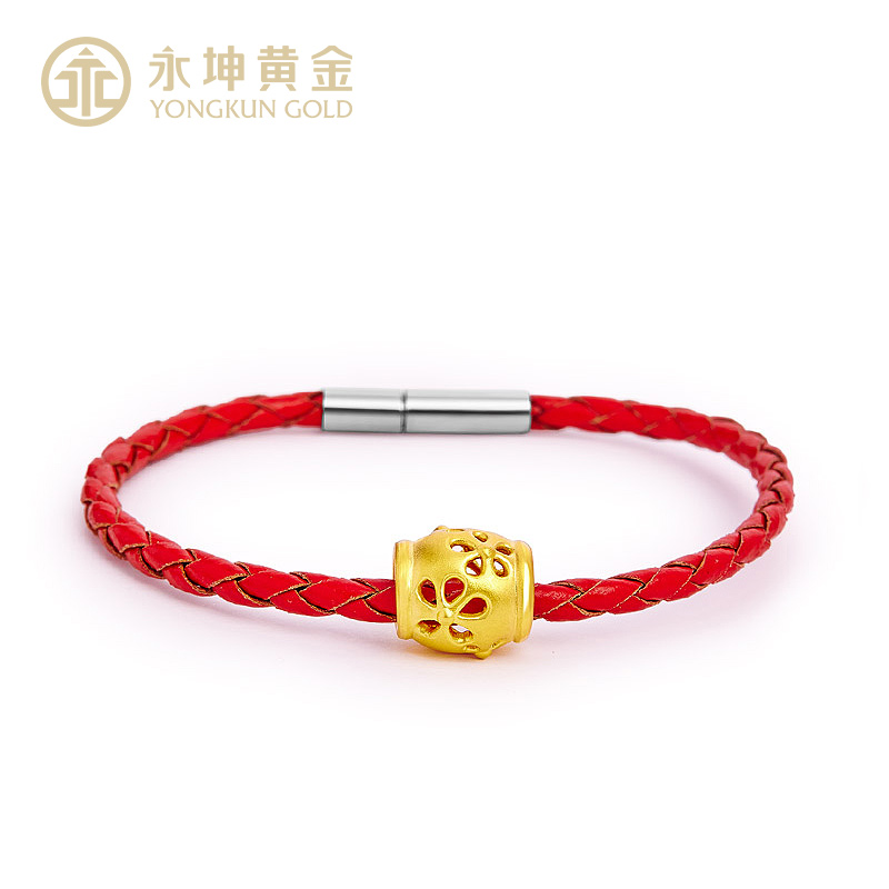 Yongkun 3d hard gold honey pot of gold pure gold gold transfer beads passepartout