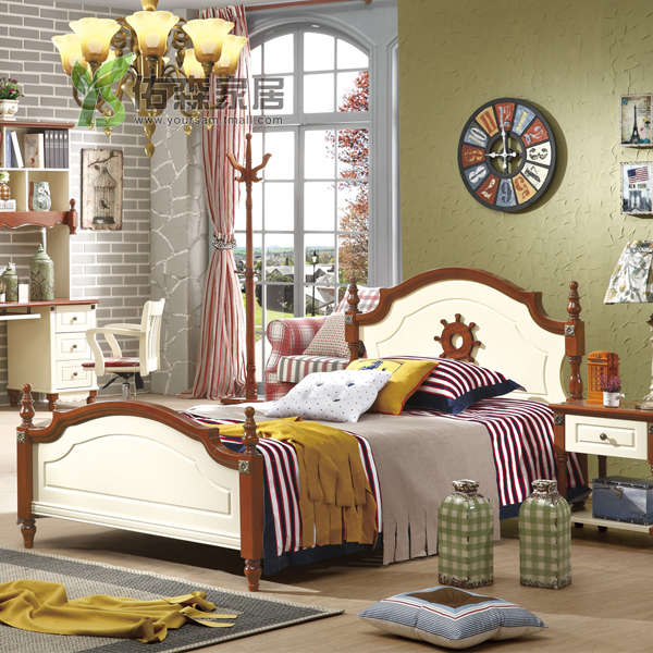 You sen children's furniture children's beds american country furniture garden bed wood bed adolescent beds  y