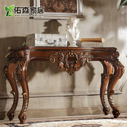 Get Quotations · You Sen Wood Furniture Sofa Back A Few European Living  Room Coffee Table Hand Carved Wood