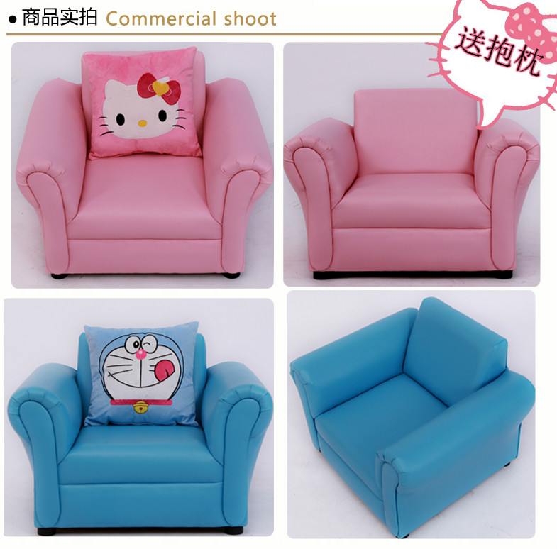 Young folks genuine jingle cats cute cartoon children small sofa leather sofa and young children park send pillow