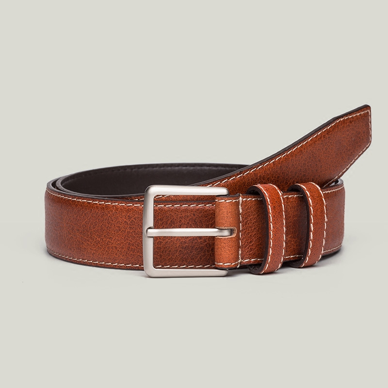 Young men leather belt leather belt male pin buckle belt male korean male pure leather belt casual pin buckle belt waistband