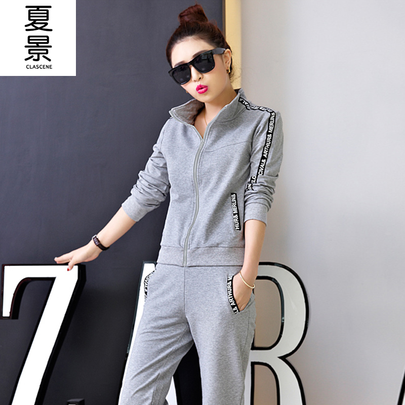 Youth 2016 spring new slim casual sports suit adolescent girls middle school students when shang sweater piece tide