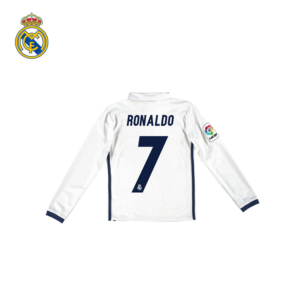 [Youth] real madrid real madrid c lo ronaldo 16/17 season home jersey long sleeve jersey 7