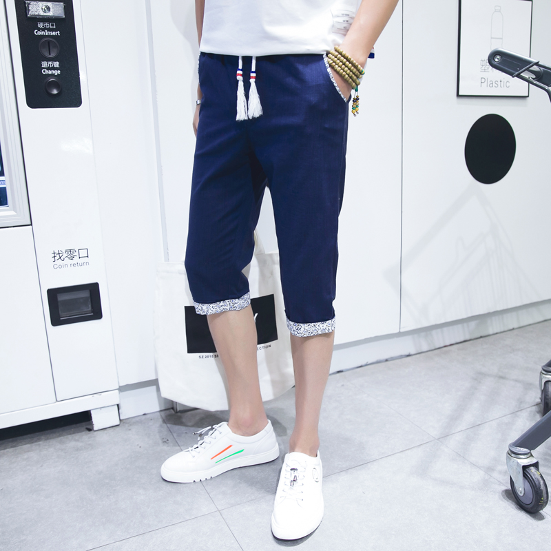 Youth sports shorts male summer pants men casual pant men beach pants male student youth summer thin section