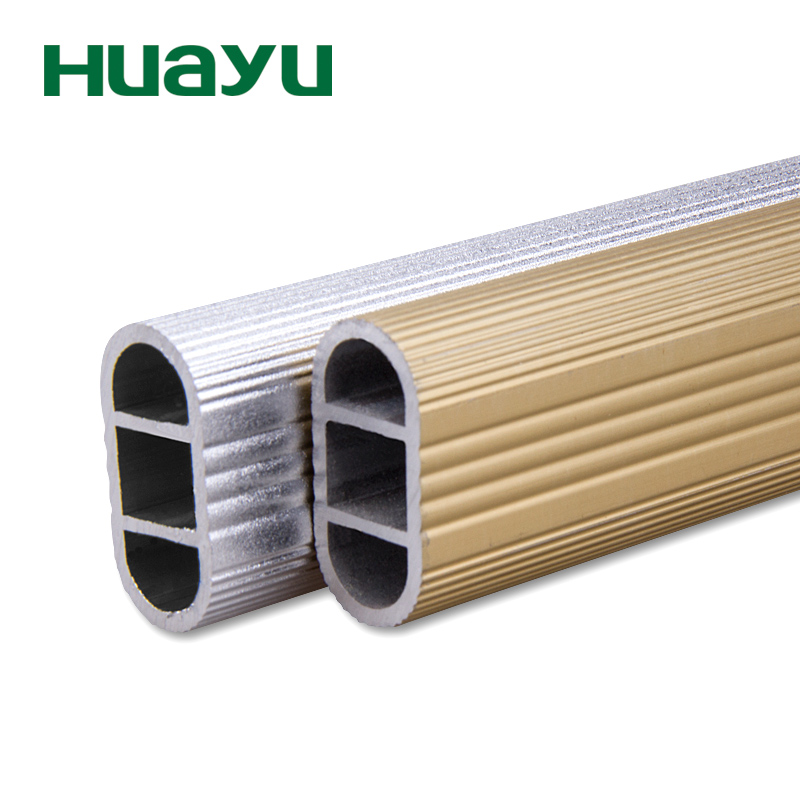Yu painting cecectomized 2mm thick reinforced double wardrobe closet rod for hanging clothes rod aluminum rod laundry closet rod