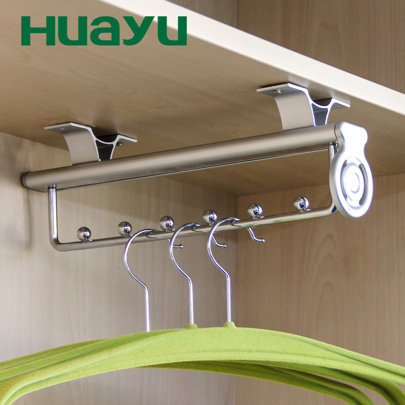 Get Quotations · Yu Wardrobe Painted Metal Cloakroom Sliding Telescopic  Mast Mounted Multifunction Device For Hanging Clothes Hanging Clothes