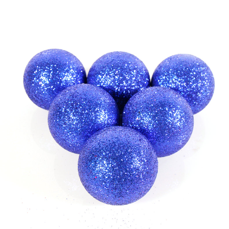 Yu wild onion powder upscale christmas christmas tree decoration ball ball ball ball blue 4cm6cm8cm10cm 10cm blue colored christmas balls