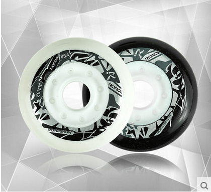 Yue xiu rx5 adult level hua xie skate wheels skate wheels in black and white wheel genuine professional skate wheels wheel brake wheel