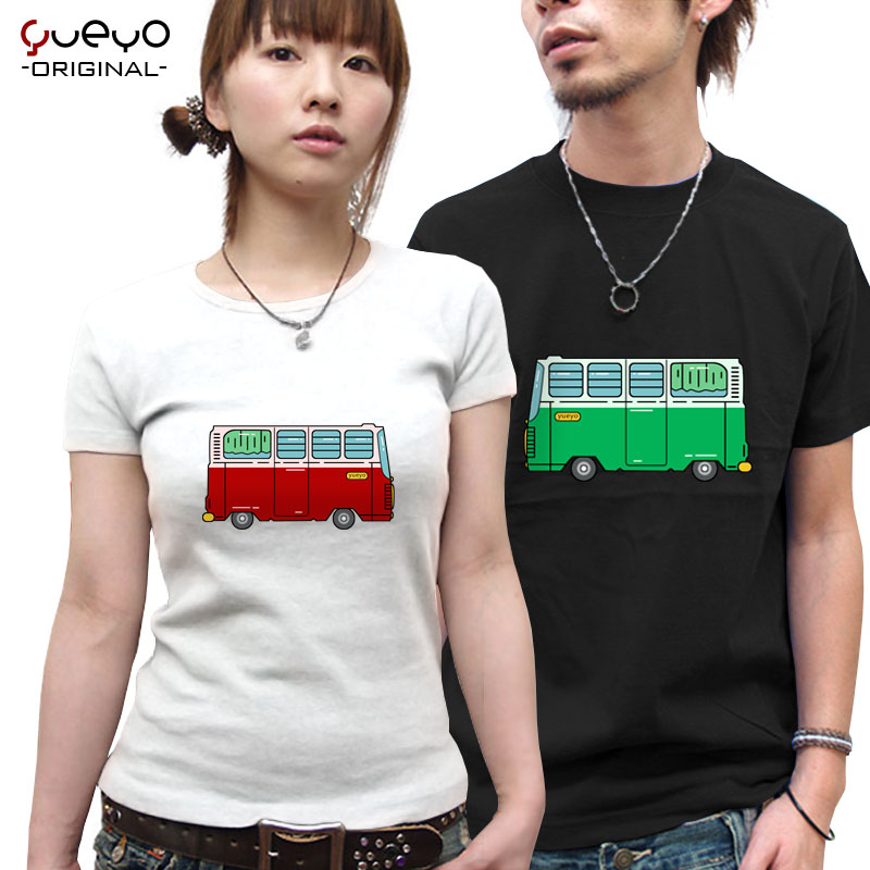 Yueyo/wyatt tour bus lovers short sleeve t-shirt female spring and summer 2016 new creative korean version of loose big yards