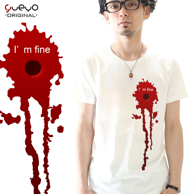 Yueyo/wyatt tour creative spoof rock tide male and female lovers summer short sleeve t-shirt printing simple and blood