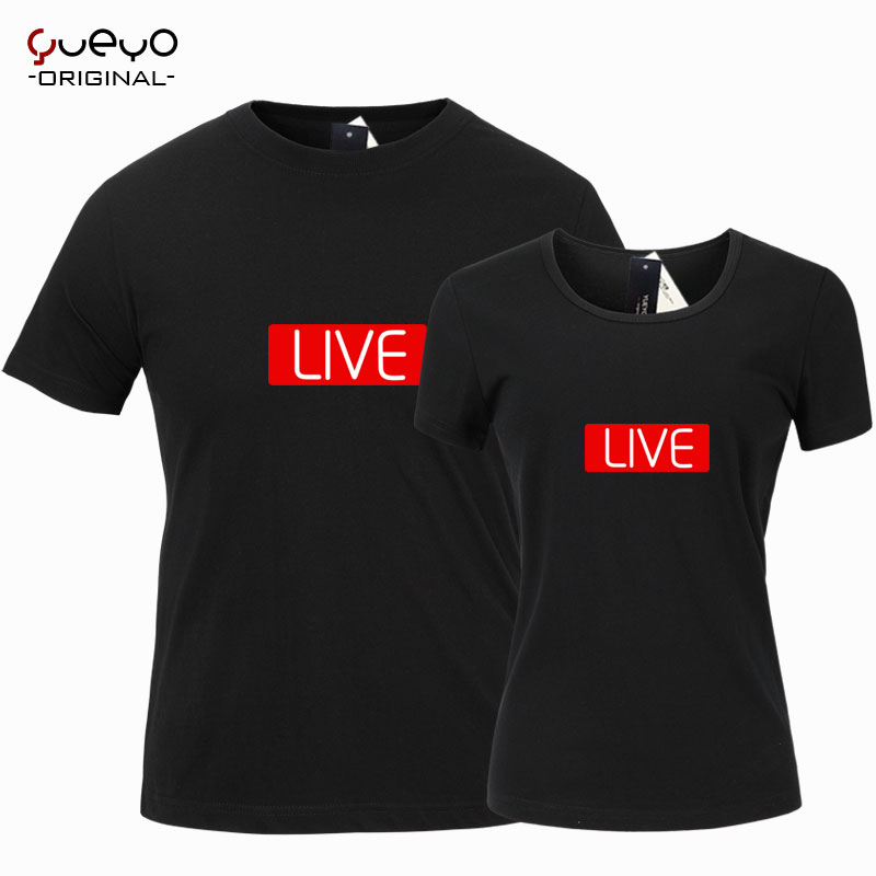 Yueyo/wyatt tour live in live anchor sleeved t-shirt t-shirt lovers male and female models and creative printing clothes