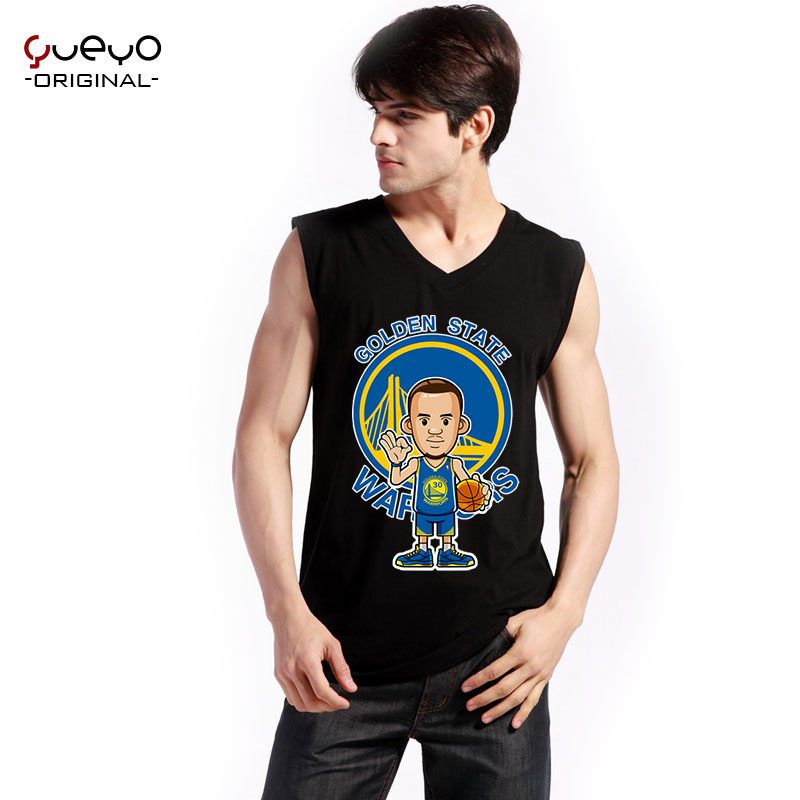 Yueyo/wyatt tour star undershirt vest male summer basketball jersey sleeveless t-shirt sports curry warriors