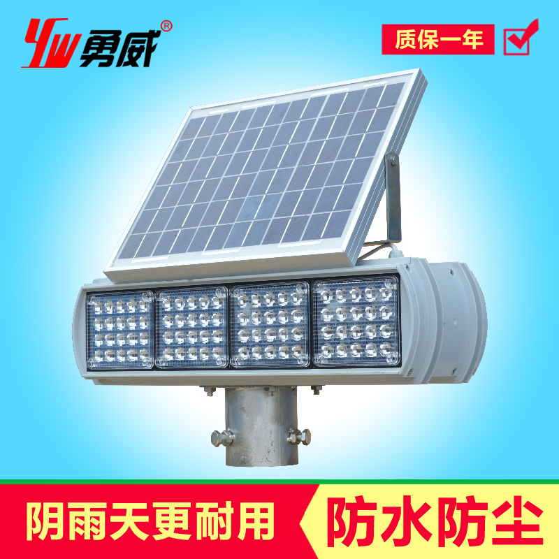 Yw solar traffic strobe red and blue strobe sided 4 lamp led barricade construction safety warning lights factory