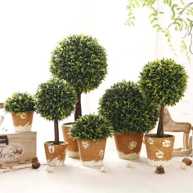 Zakka american creative potted plant simulation small bonsai living room home decorations ornaments office furnishings